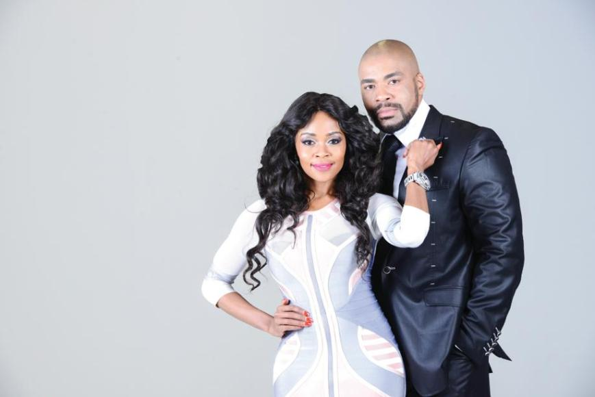 Thembi Seete as Bontle Shona Ferguson as Thabiso in The Gift. Image source, http://citizen.co.za/wp-content/uploads/sites/18/2014/11/Page1A_2-599x400.jpg