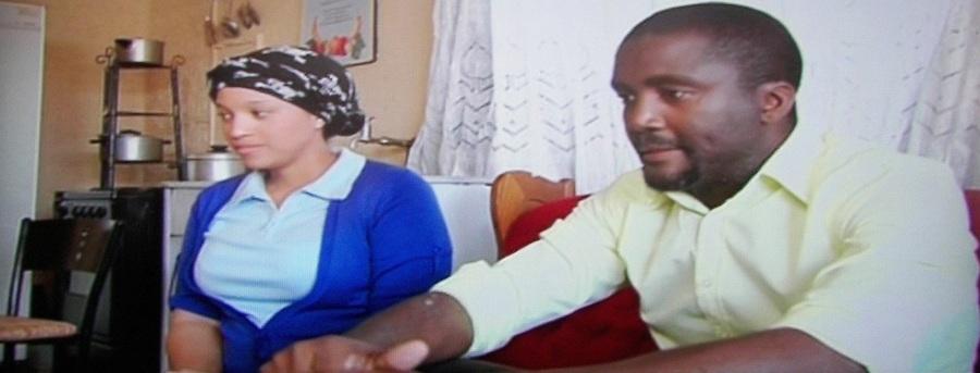 Nomelezi V. Ntshimba as Tshepo and Miranda Mokhele as Dimakatso in Lehlohonolo 'Shaft' Moropane's My Brother's Keeper (2014)