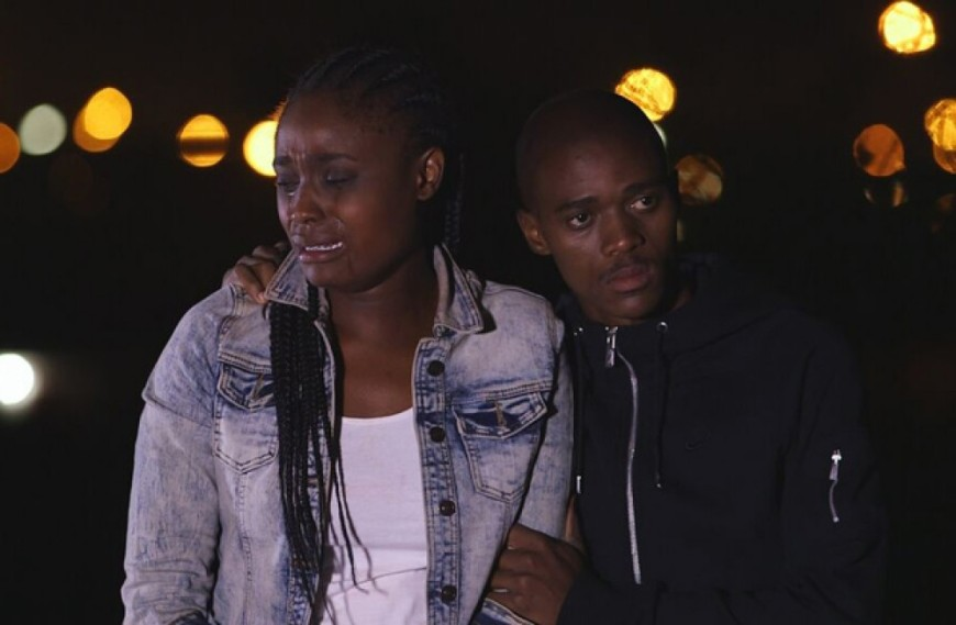 Andy Ledwaba as Thandi and Reggie Hoffman as Sphiwo in the Haunted Wardrobe
