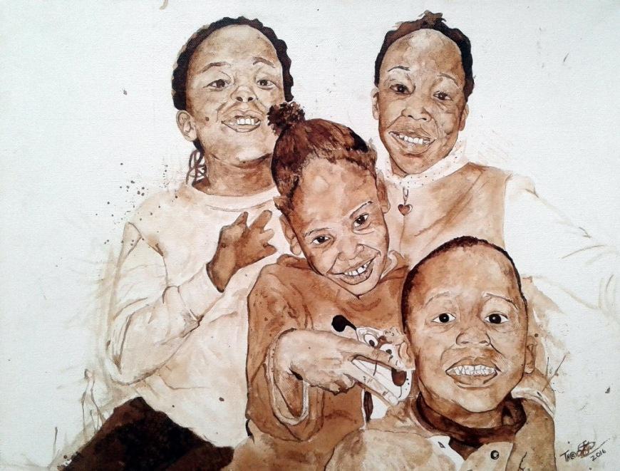 Ditlogolo.Dye on canvas.2016