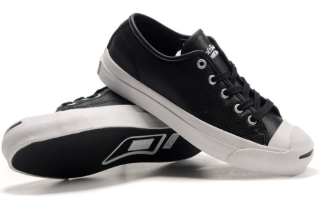 A pair of leather Jack Purcell